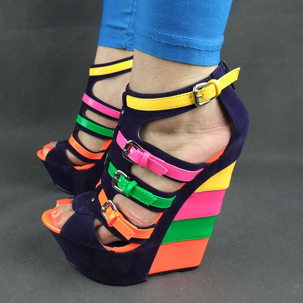 multi colored blue wedge on storenvy