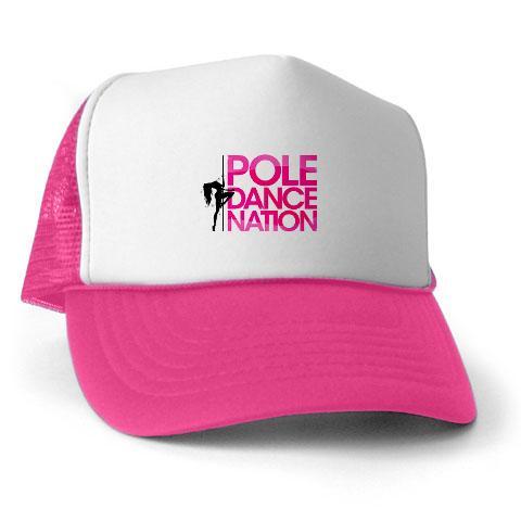 Pole Dance Nation Logo Trucker Cap Pink   White on Storenvy c140721ae6f