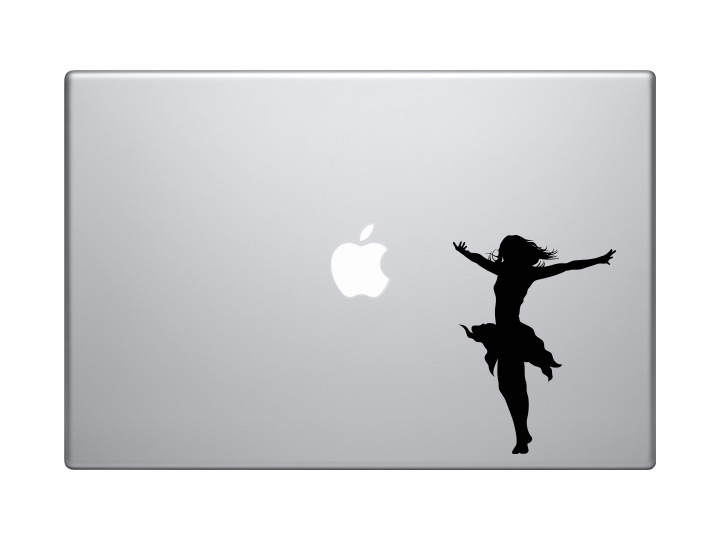 Dancing Woman Girl Version 5 Shadow Contour Silhouette Car Tablet Vinyl Decal