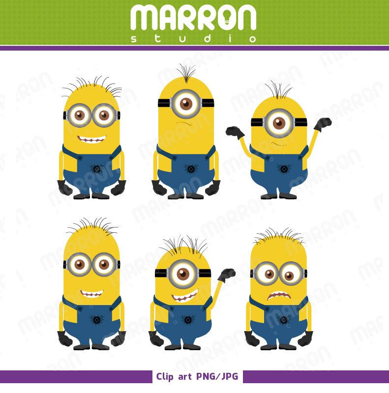 Minions Clipart Digital File On Storenvy