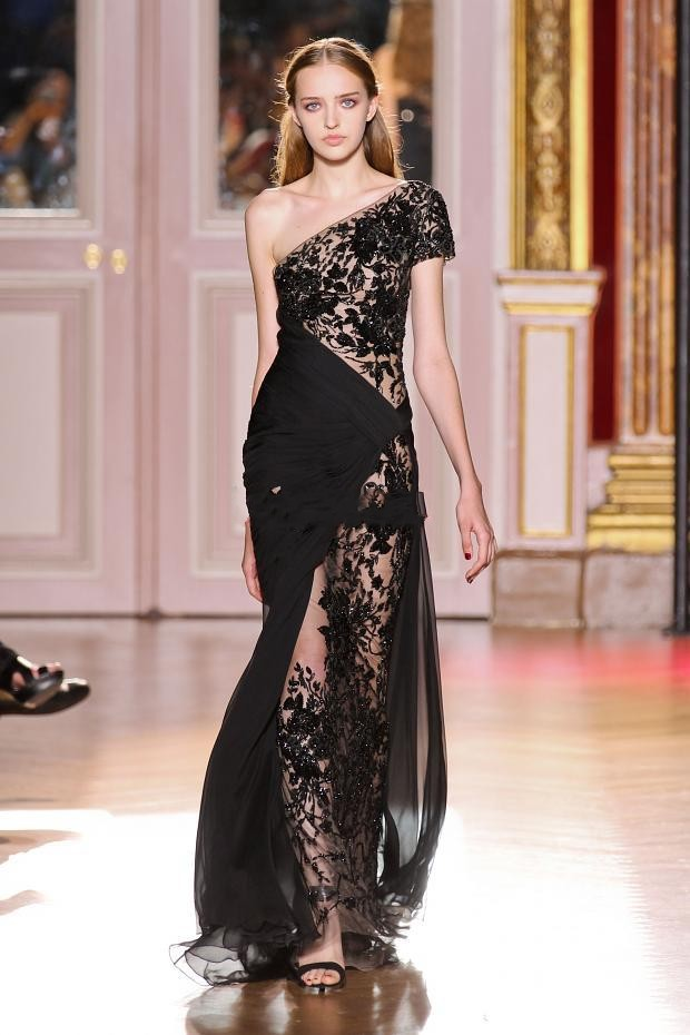 YZ Sexy Black Lace Mermaid Evening Dresses Zuhair Murad 2013 one ...