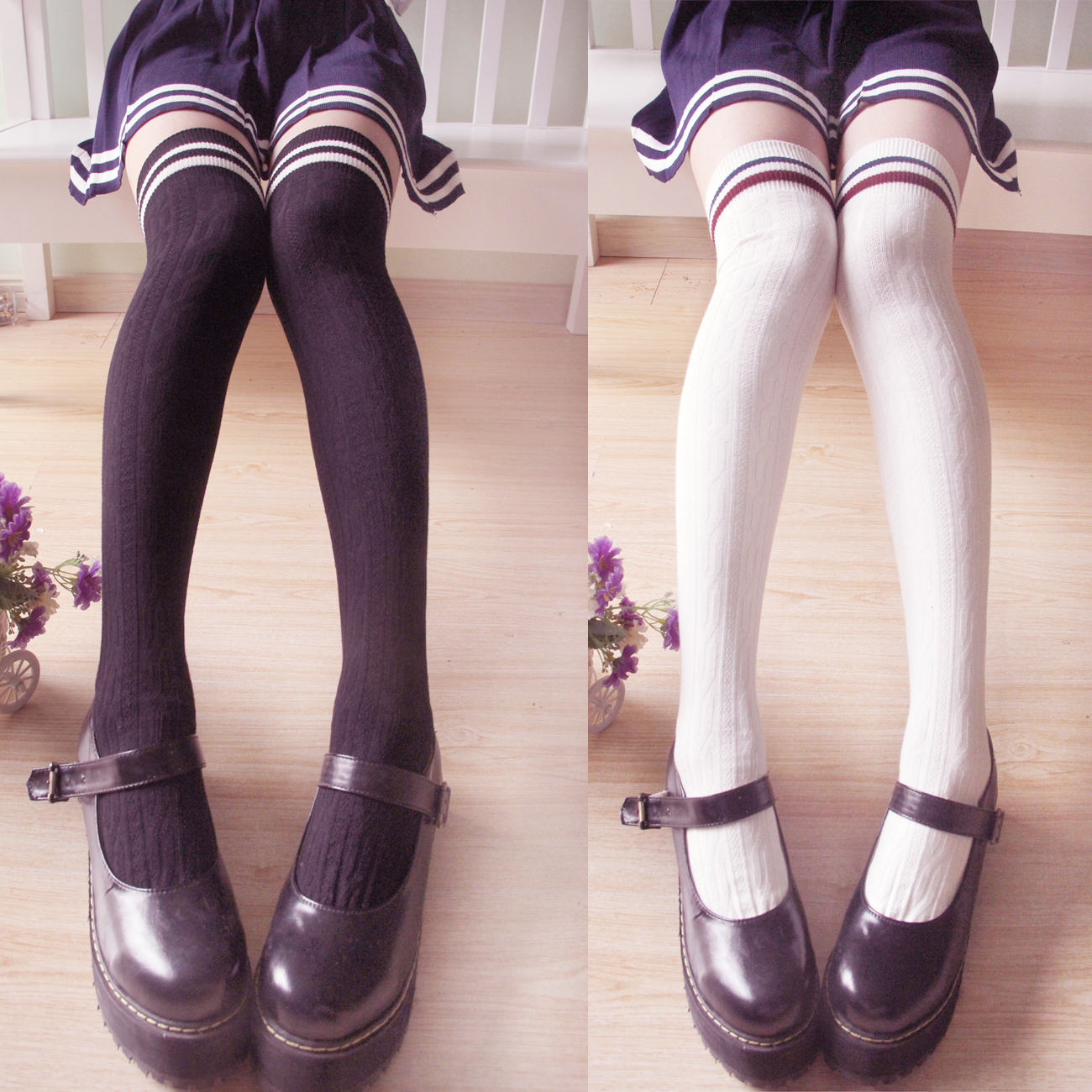 3479d6a38 Cute Kawaii Japanese Striped Stockings · Cute Kawaii {harajuku ...