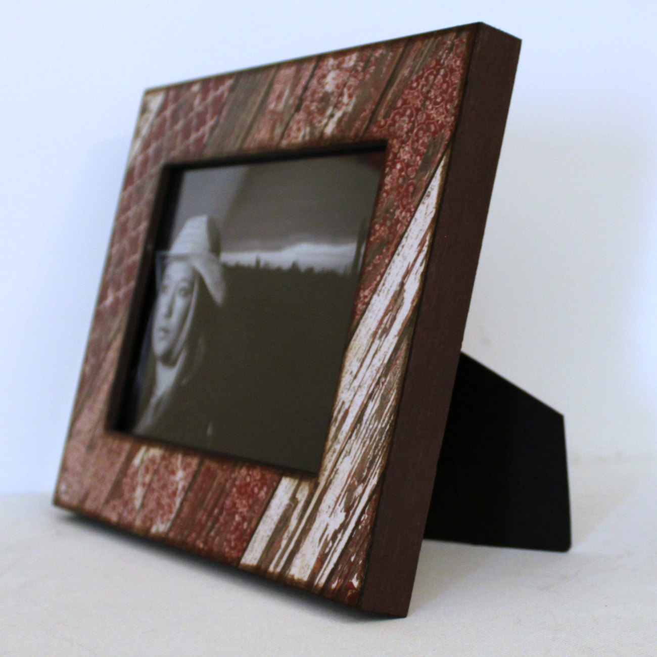 5x7 Photo Frame Red Weathered Rustic Wood On Storenvy