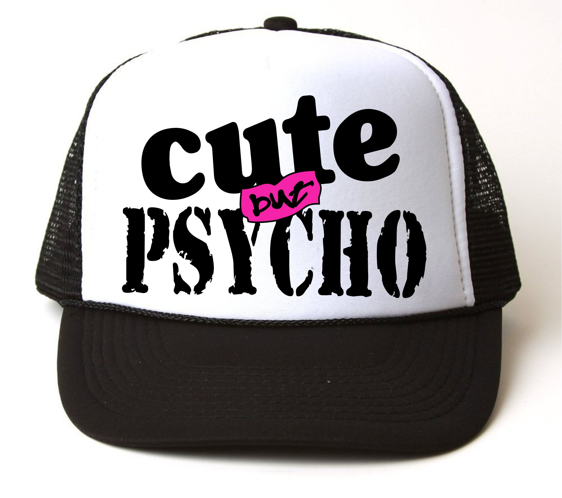 8a752cb415b4e CUTE But PSYCHO Snap Back Cap   123 · CASAS · Online Store Powered ...