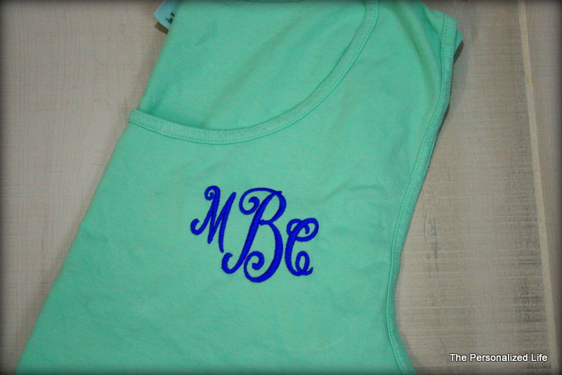 b443ecccb3 Comfort Colors Monogrammed Tank Top · The Personalized Life · Online ...