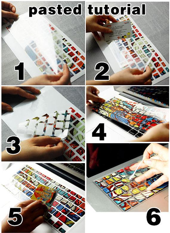 Macbook Decal Macbook Keyboard Decal Macbook Pro Keyboard Skin - Macbook air decals