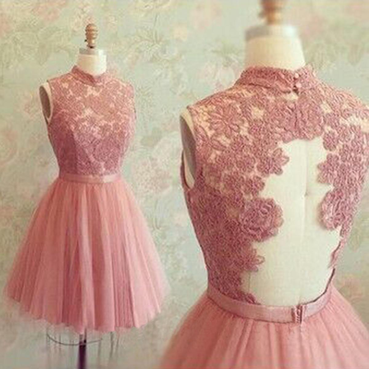 1805a594a31 short pink homecoming dress