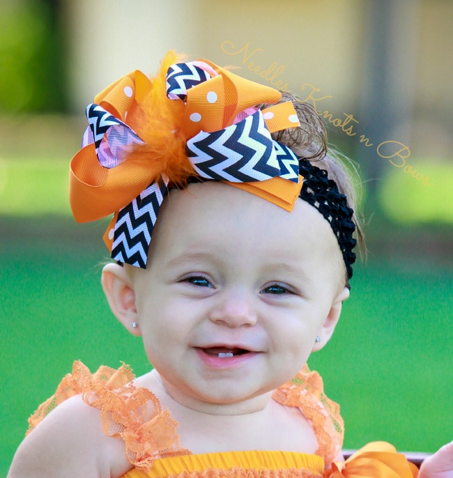 429702518f64c Girls Halloween OTT Feather Headband, Baby Girls Halloween Boa Center  Hairbow, 6.5
