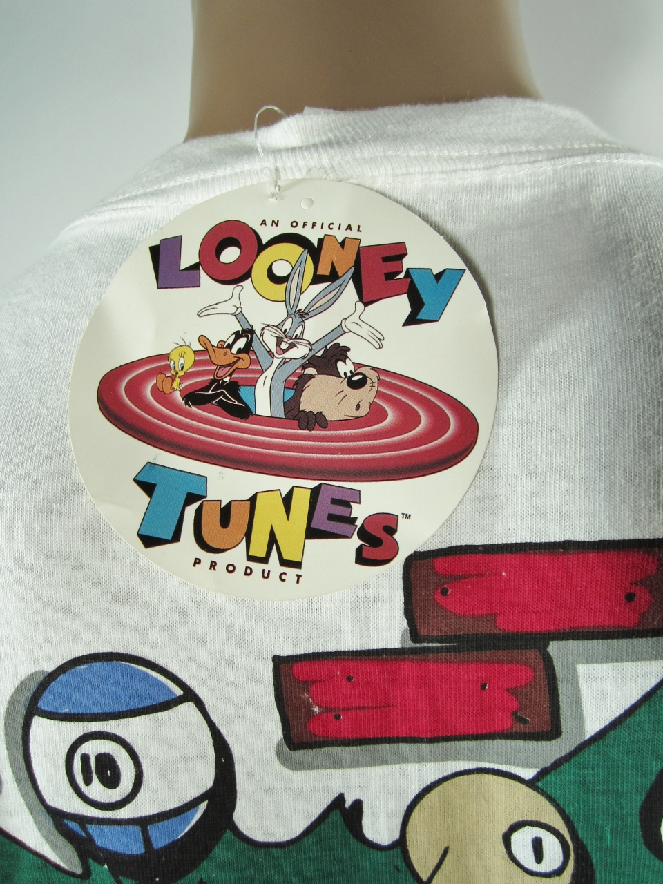 Vintage Looney Tunes Playing Pool T Shirt Xl Nwt On Storenvy