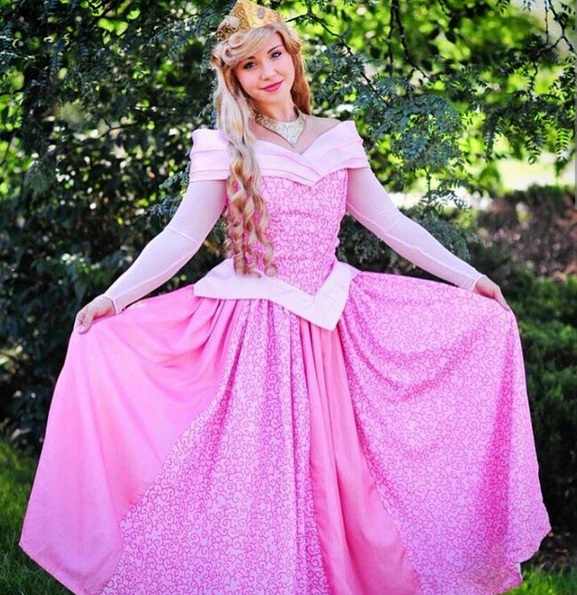 Amusing Adult sleeping beauty costume