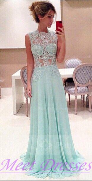 Light Blue A Line Prom Dresses Long Chiffon Evening Gowns For Senior ...
