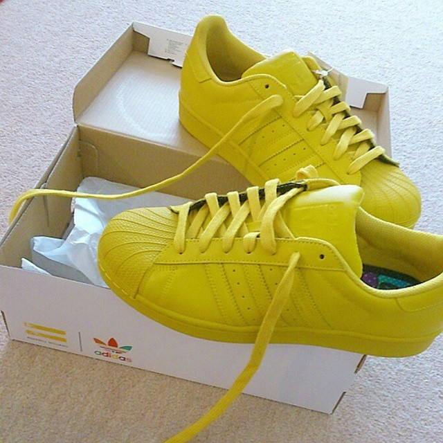 f791c38a795 Men s Yellow Adidas Superstar on Storenvy
