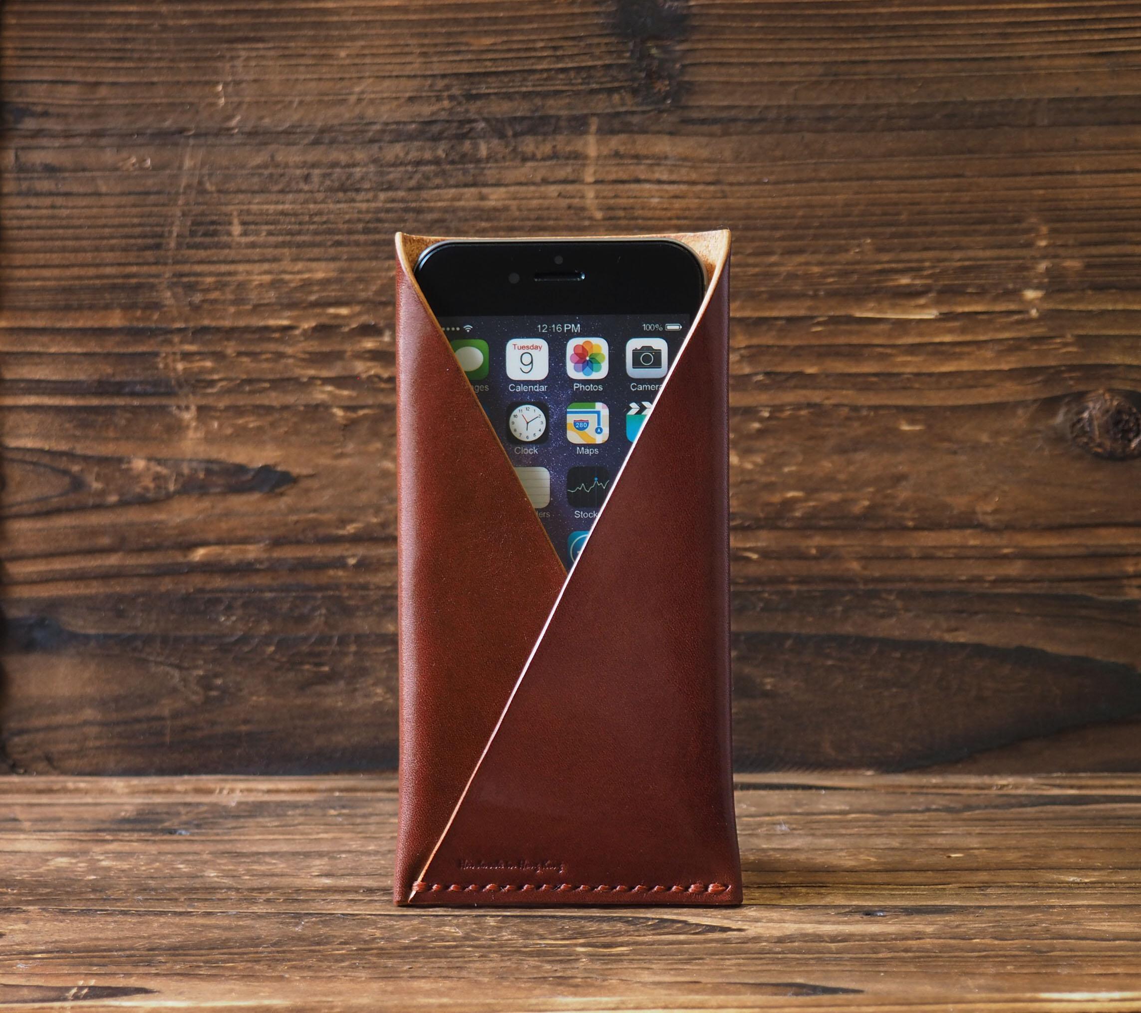 huge discount 92aba b063c iPhone 6 Leather Case - Minimalist Wallet handmade, sleeve, card wallet,  Card holder, iPhone6 Wallet, monogram, custom, personalized #Brown