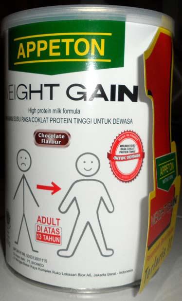 Milk Powder Appeton Weight Gain Adult Chocolate Flavor 450