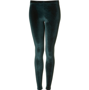 36d7cbc729a High Waisted Dark Green Velvet Leggings · studio · Online Store ...