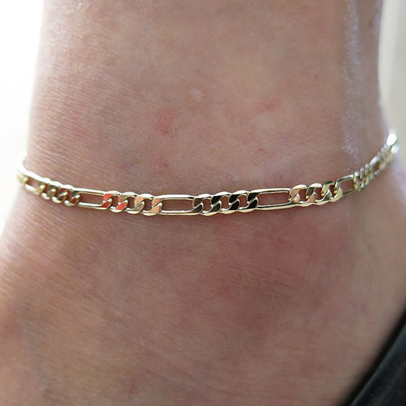 wfl two anklet dp station gold fits tone quot bead or