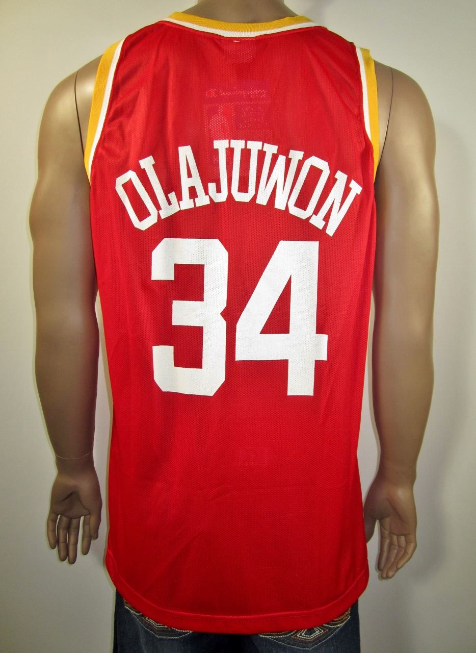 Hakeem Olajuwon Houston Rockets Champion Jersey XL NWT European ... 35b3e38b8