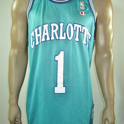 newest d18eb 0f84a Muggsy Bogues Charlotte Hornets Champion Jersey 48 NWT from DFRNSH8