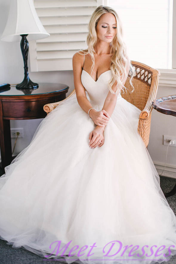 Beautiful Wedding Dress Affordable A Line With Spaghetti Straps