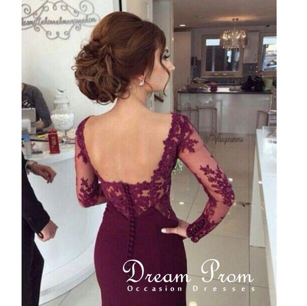 Sweetheart Red Long Sleeve Dress