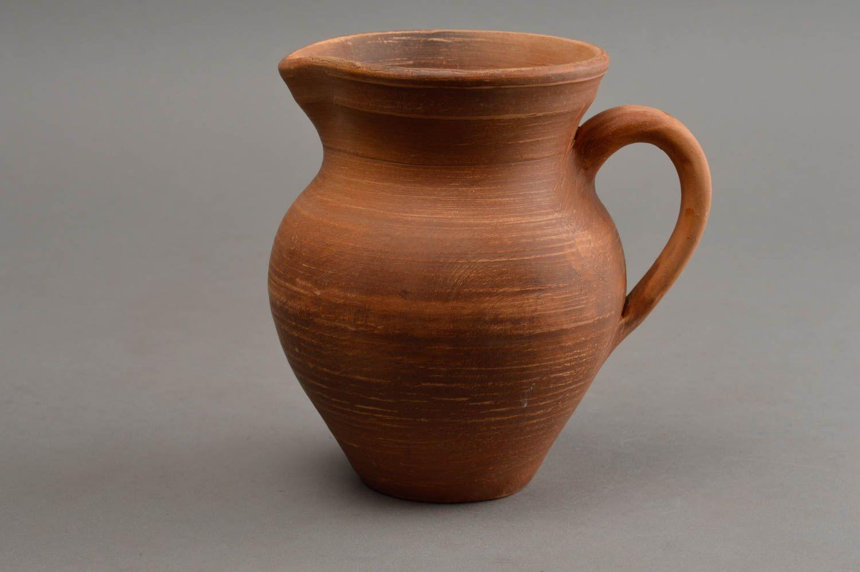 Beautiful handmade clay water jug unusual ceramic milk jug 500 ml gift ideas