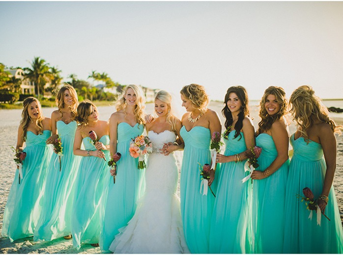 Long Bridesmaid Dress Blue Bridesmaid Dress Chiffon Bridesmaid