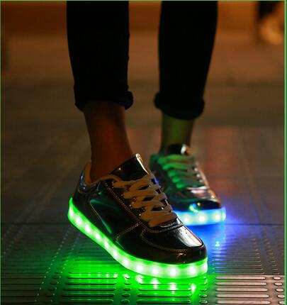 Holographic Light Up Shoes Exclusive Led Hologram Silver