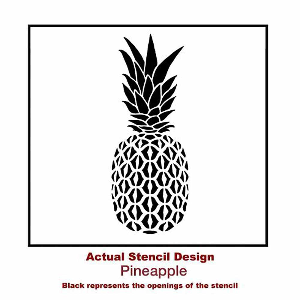 pineapple wall art flower stencils_small - Walls By Design