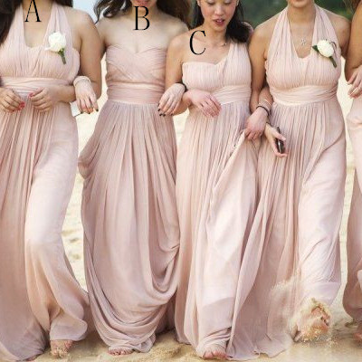 Vintage Pink Bridesmaid Dresses