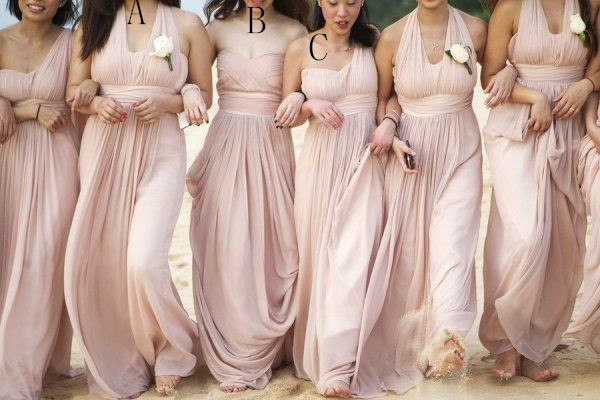 Simple Pink Bridal Dresses