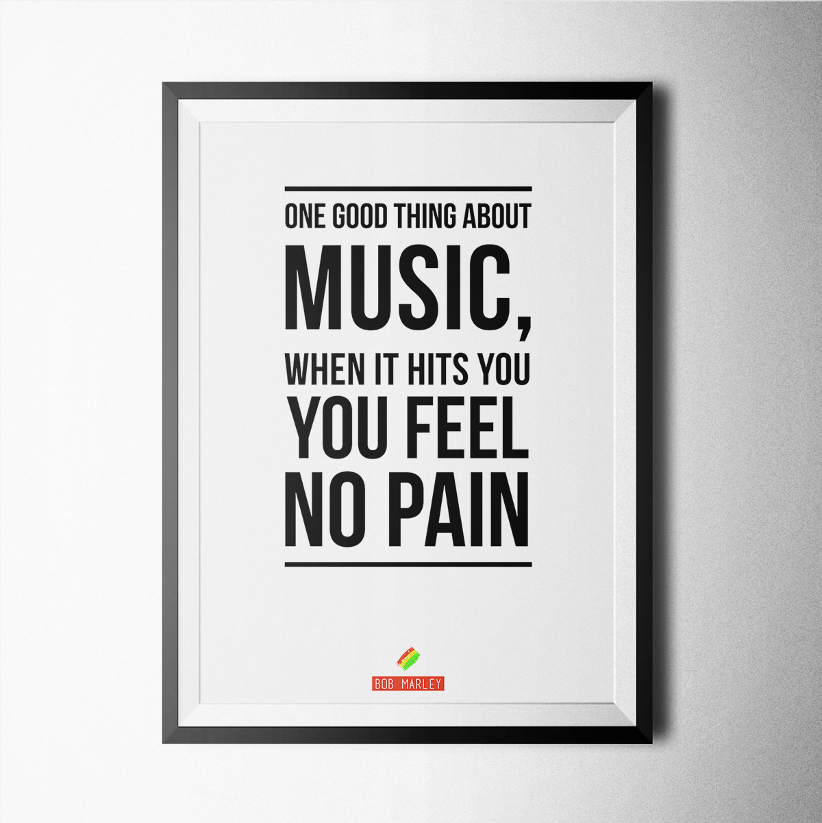 Music bob marley poster print wallart minimal black and white