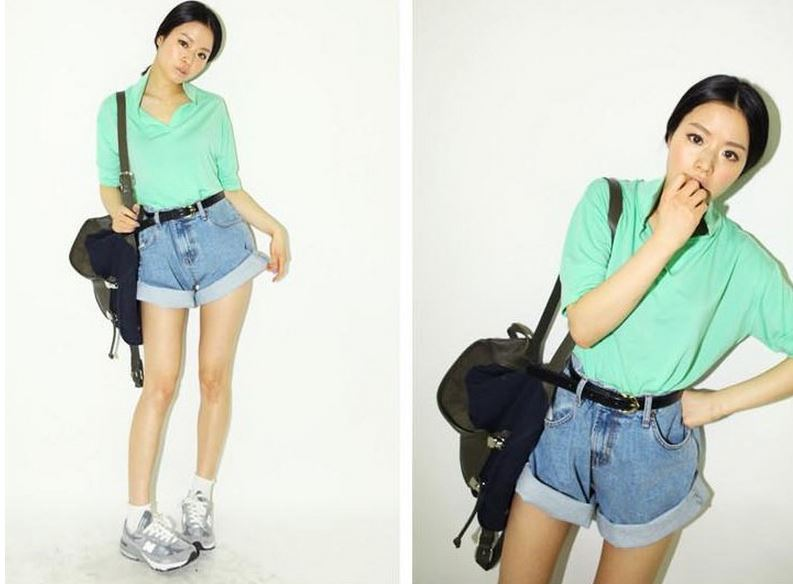 Geometric Loose Fit High Waist Jean Denim Shorts on Storenvy
