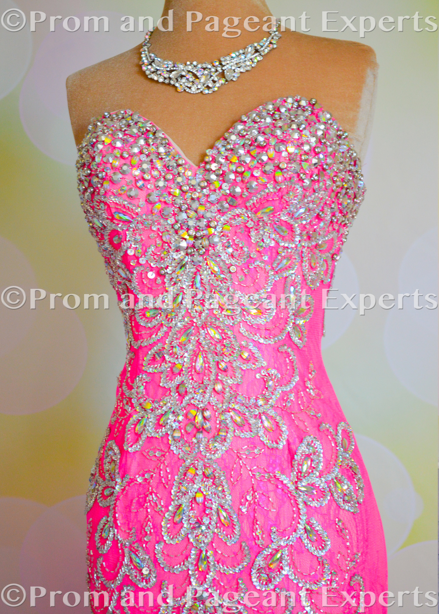 Hot Pink Lace Mac Duggal Gown Sold By Prom And Pageant Experts