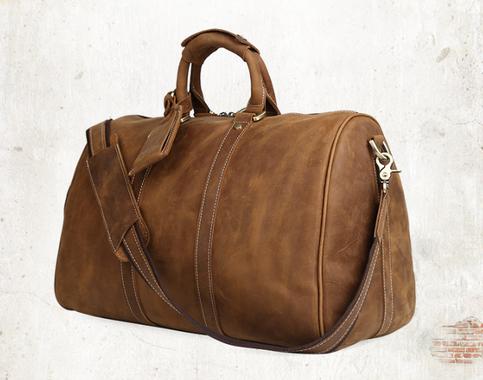 Handmade Leather Holdall, Travel Bags,handbag(cy34