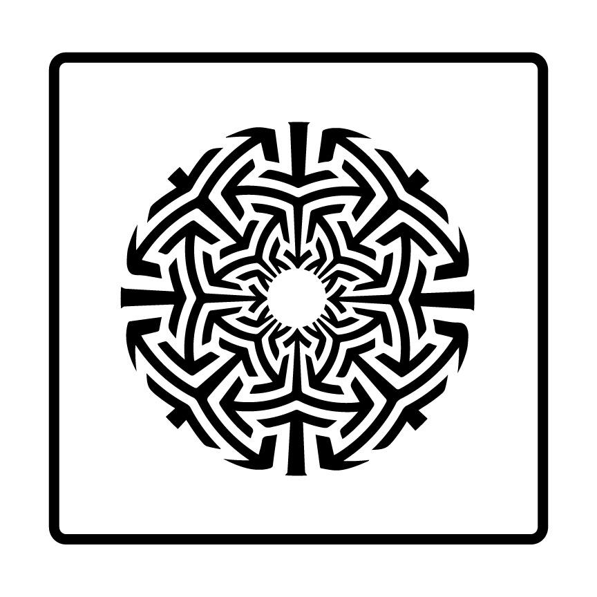 Tri Mandala Stencil Sacred Geometry Pattern On Storenvy Fascinating Sacred Geometry Patterns