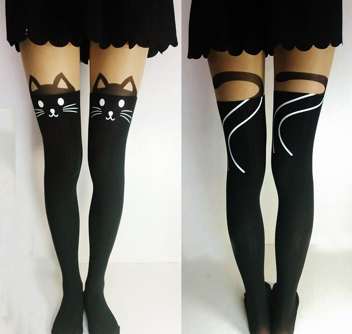 d14080ce8cb Cat Tails Thigh High Tights · Noirlu · Online Store Powered by Storenvy