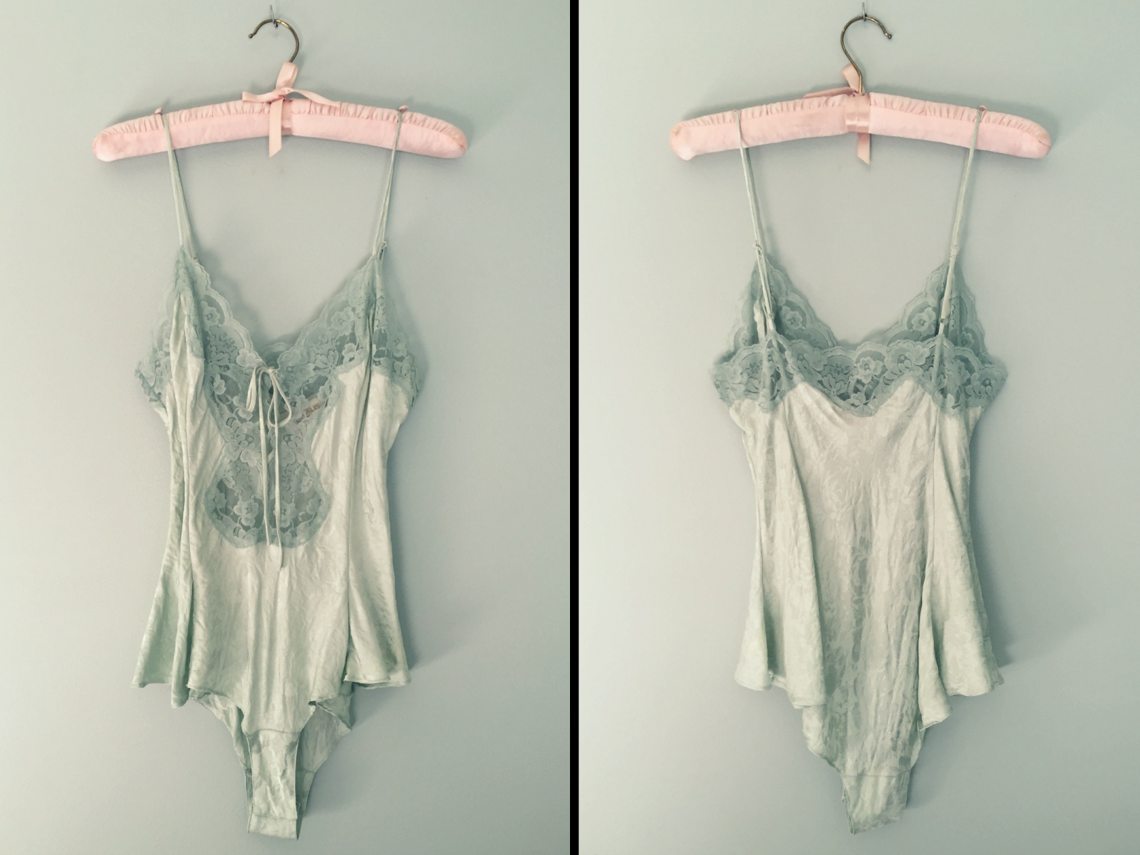 f35d7b9311 Vintage Small Mint Tea Silk Teddy Onesie - Victoria s Secret - Thumbnail ...
