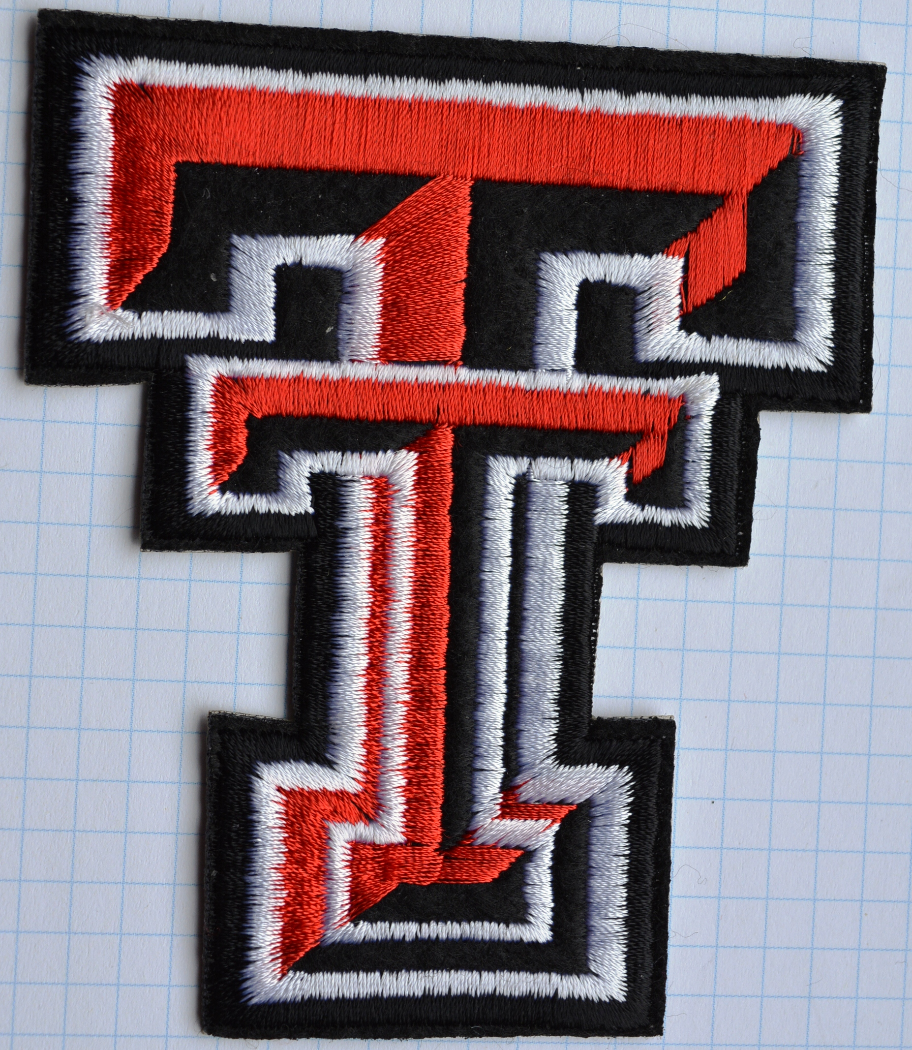 Texas Tech Red Raiders T Logo Embroidered Cloth Iron On Patches