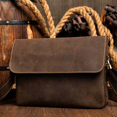 ac8099d02e Handmade Leather messenger bag
