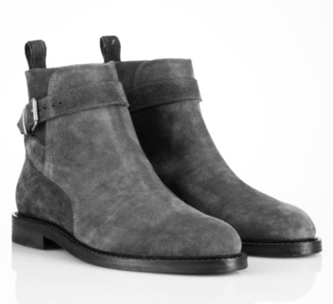 Handmade Men Jodhpur Suede Leather Boots Mens Gray
