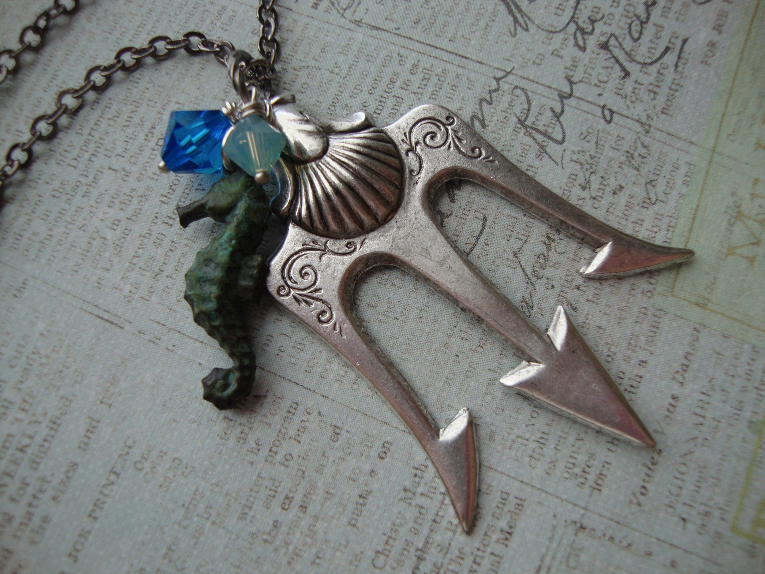 Poseidon ~ Percy Jackson Lightning Thief Trident Necklace ...