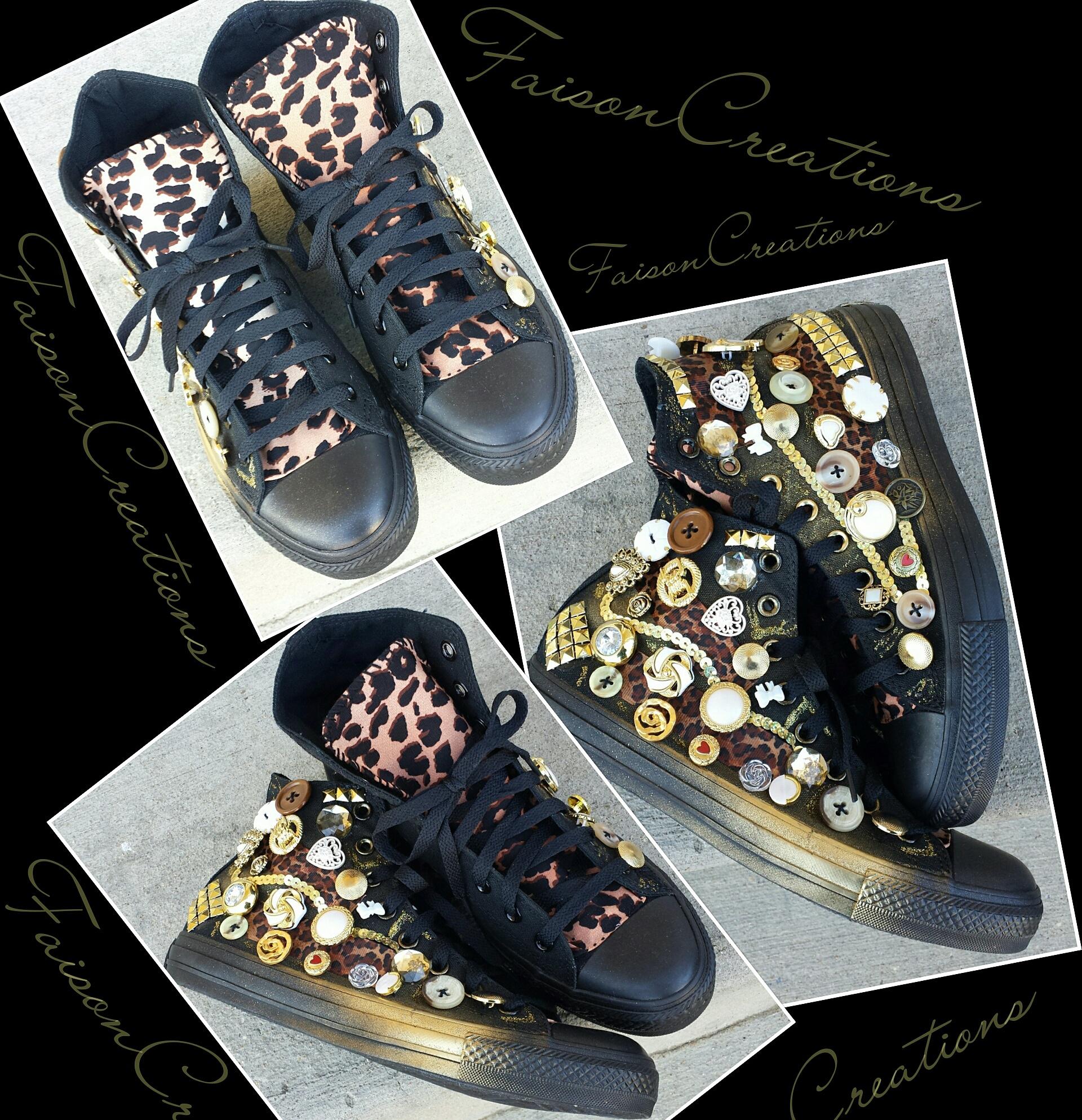 eff21ccec7a6f Adult Custom Leopard Converse