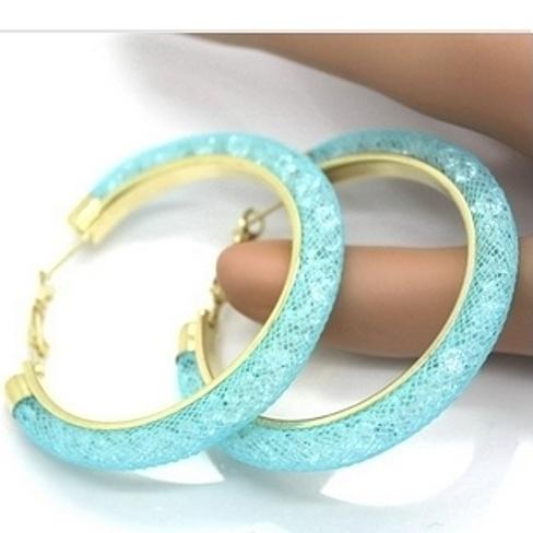 5d363be210d7f 18k Gold Swarovski Aqua Earrings
