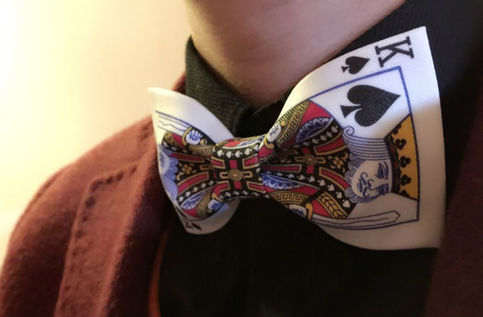 Play Card Spades King Cool Design Bow Tie Nice Gift Good