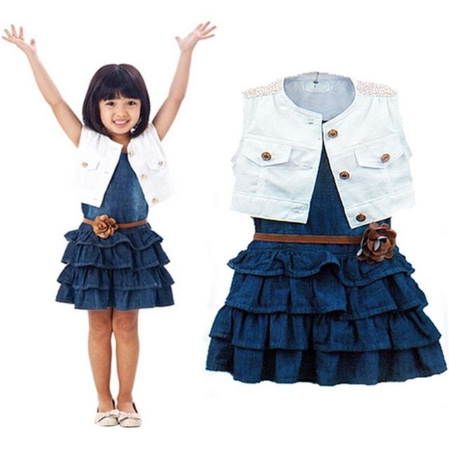 75d523479d5eb Feitong 2016 hot sale vetement enfant children kids baby girls clothing set  summer models girls vest