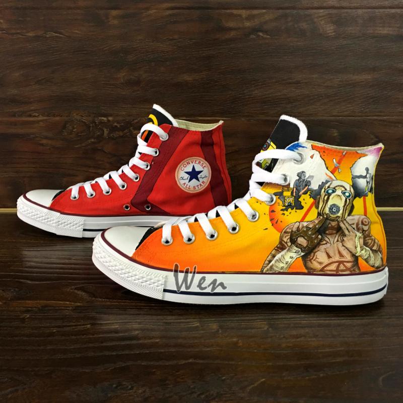 aebcdc3869c901 Converse All Star Borderlands Custom Design Hand Painted Shoes Men ...