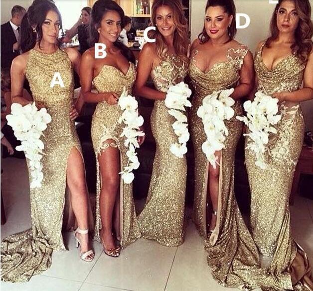 long Bridesmaid Dress, sparkle