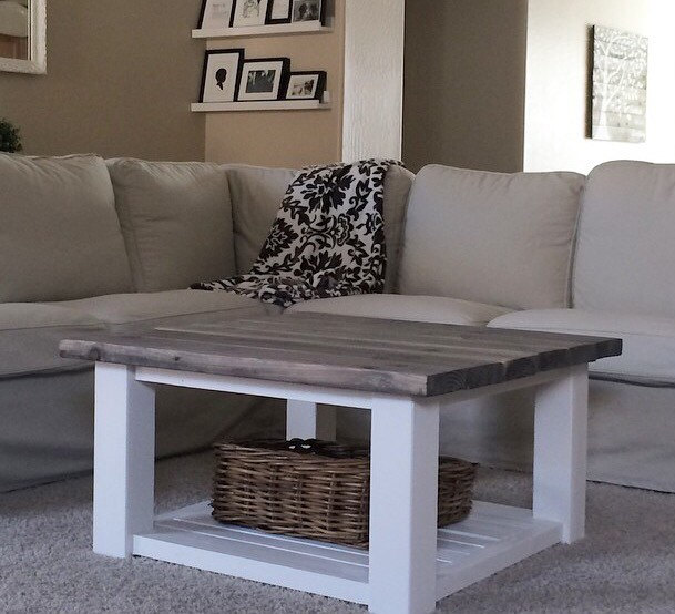 Square Farmhouse Coffee Table Sold By Sweet Netta Jean On Storenvy