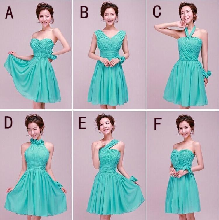 NEW Custom COLOR!Mix Style Mini Short Bridesmaid Dresses Colors ...