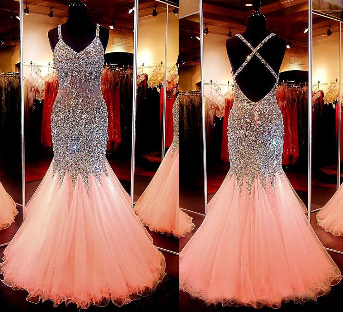 mermaid prom dress, long evening dress, 2